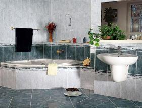 A fürdőszoba díszítése