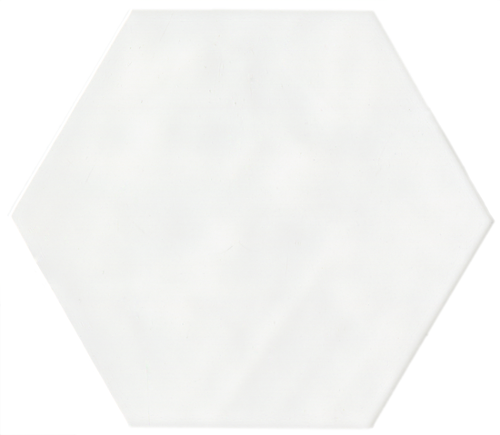 Oxford White Hexagon 17.5x20