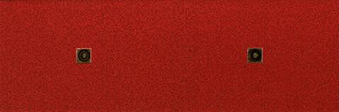 Fiber Rojo Decor Circulos Oro 20x60
